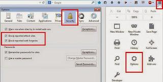 cara mengaktifkan browser safe mode mozilla firefox