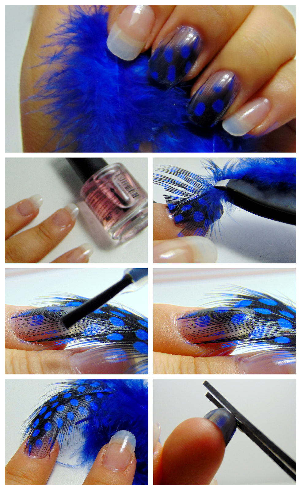 Feather Nail Art Tutorial Using Decorative Feathers Chocolate