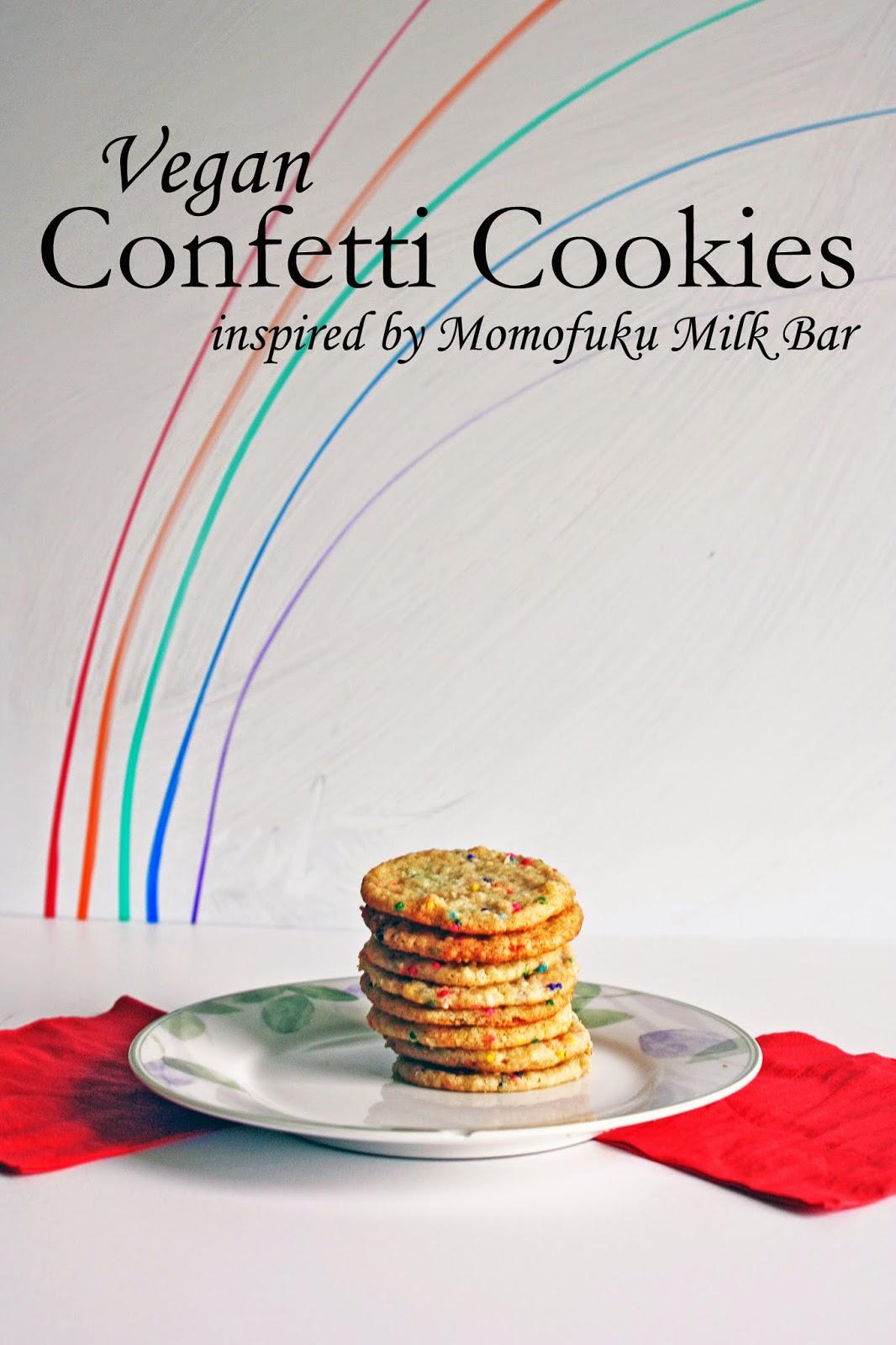 vegan momofuku inspired confetti cookies