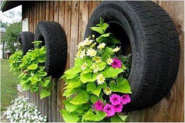 artistic garden tyres