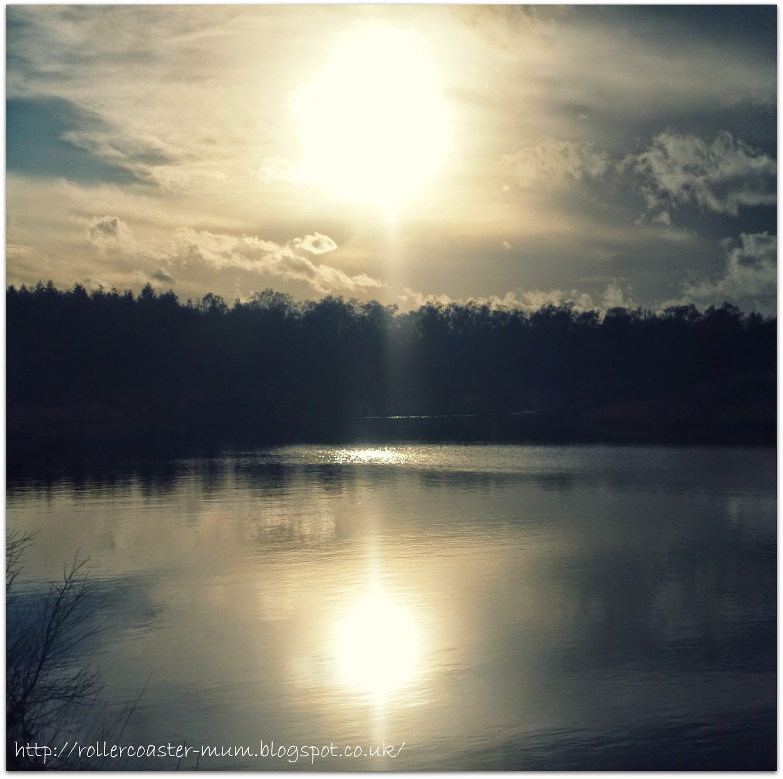 winter sun on the lake