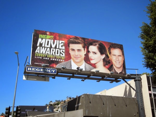 Zac Efron MTV Movie Awards 2013 billboard