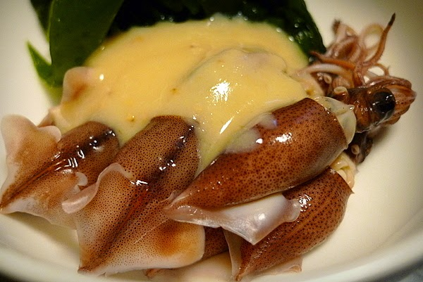 ホタルイカと生ワカメの酢味噌和え