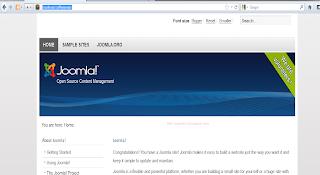 Website dengan joomla