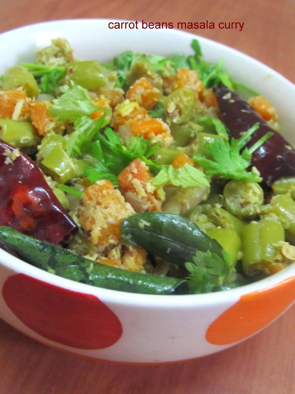 carrot beans masala curry