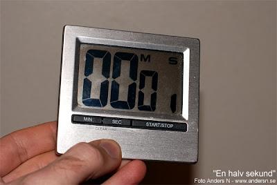 en halv sekund, trasig klocka, display digital, nedräkning, final countdown, en klockren bild, foto anders n