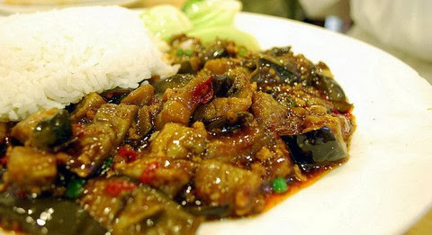 Spicy Eggplants with Boiled Rice