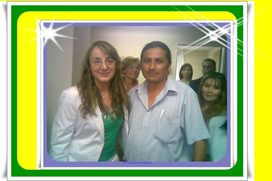 SEÑORA ALICIA KIRCHNER Y EL Cacique:  ARIEL CONDORI EN MISIONES Nº 71 - UNIDAD MINISTRO EN CAPITAL