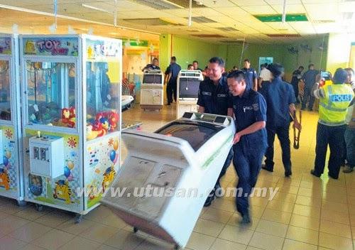 MBMB JAIM Polis bekerjasama gempur Jackpot di Melaka