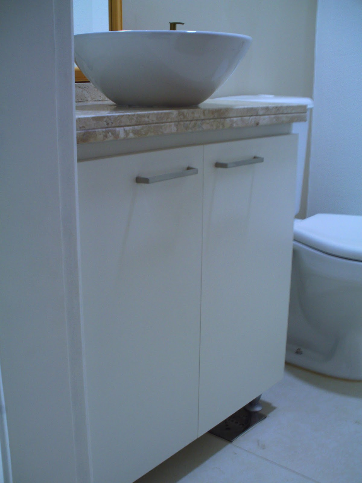 Oficina de Marcenaria: Balcão p/ banheiro #0E58BD 1200x1600 Balcão Para Banheiro Bosi