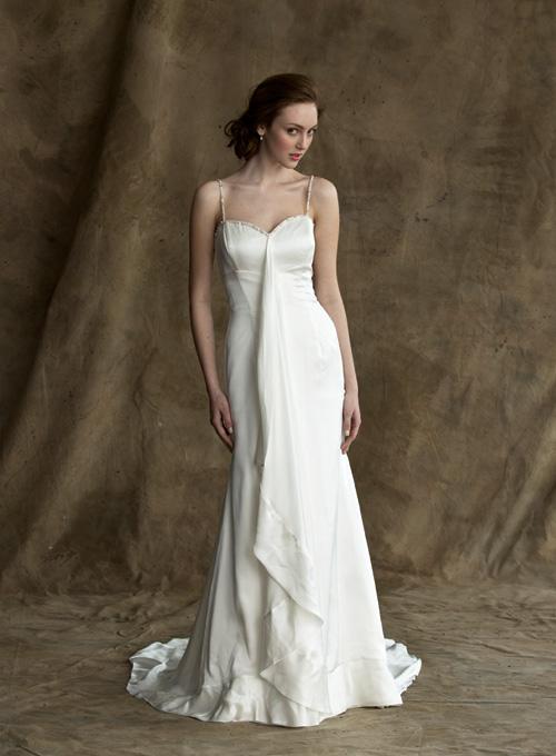 Celebrity Fashion: Simple Wedding Dresses