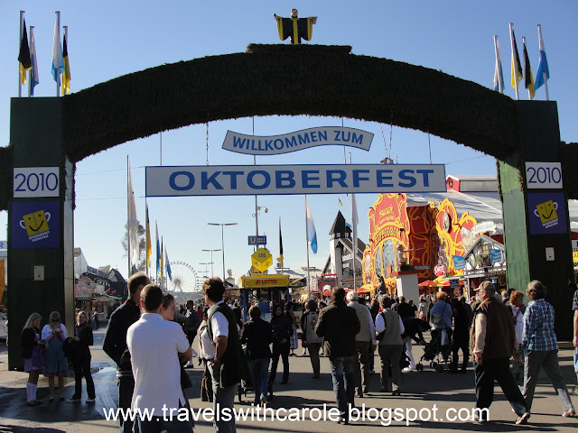 Oktoberfest gate in Munich, Germany