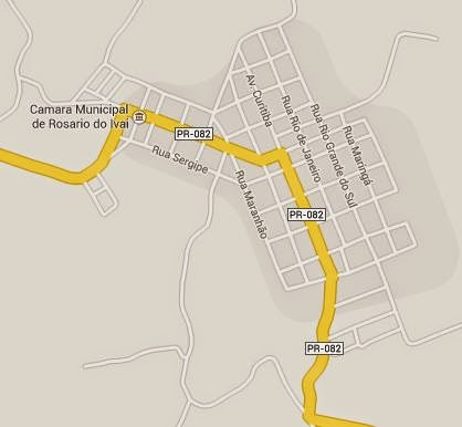 Mapa Rosário do Ivaí