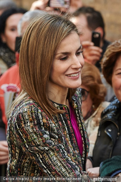 Queen Letizia of Spain visits the 'Goya and Zaragoza' exhibition at the Camon Aznar Museum on March 10, 2015 in Zaragoza, Spain