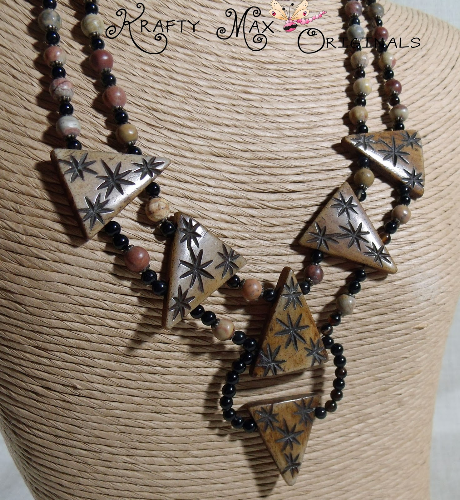 http://www.lajuliet.com/index.php/2013-01-04-15-21-51/ad/gemstone,92/exclusive-bone-triangle-detailed-and-gemstone-necklace-set-a-krafty-max-original-design,133