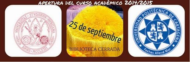 apertura del curso académico 2014/2015