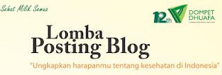 Lomba Blog : Sehat Milik Semua