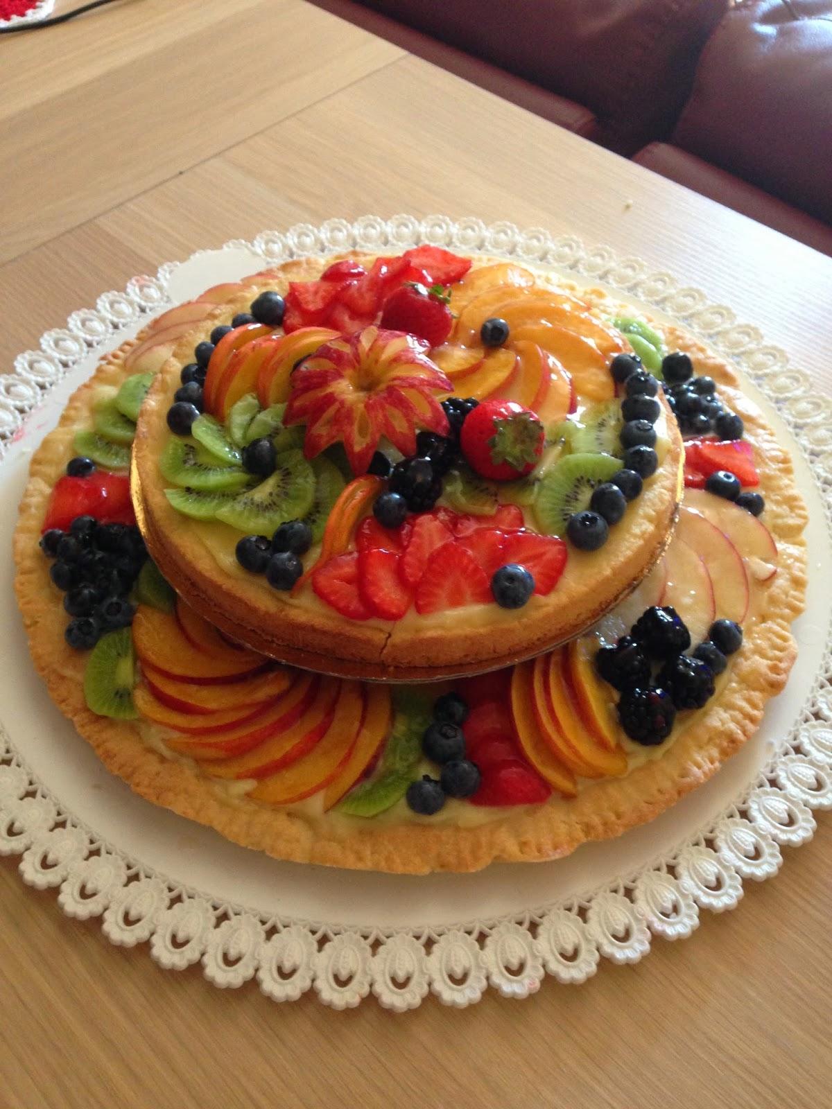 Chiara in sugarland torta crostata di frutta a due piani for Piani a due piani