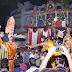 कलाकारो ने राम रावण युद्ध का रोमांचक प्रदर्शन किया