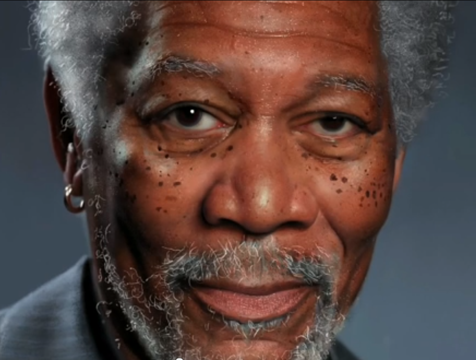Amazing Morgan Freeman digital art not a picture