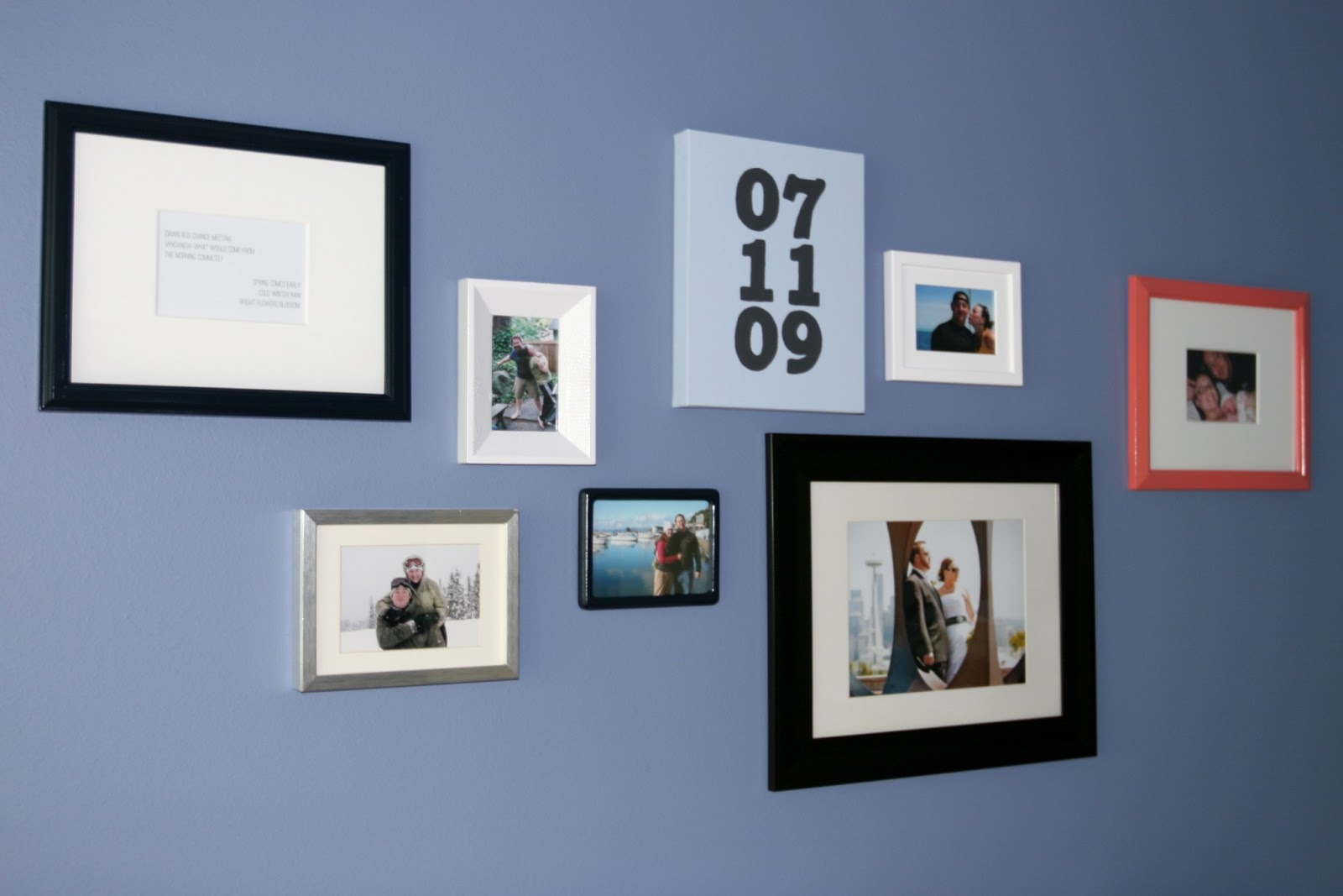 Without a doubt pinned it did it relationship timeline gallery i liked the idea of creating a gallery wall dedicated to the couple at the heart of the house and i thought itd be fun to make it a timeline jeuxipadfo Gallery