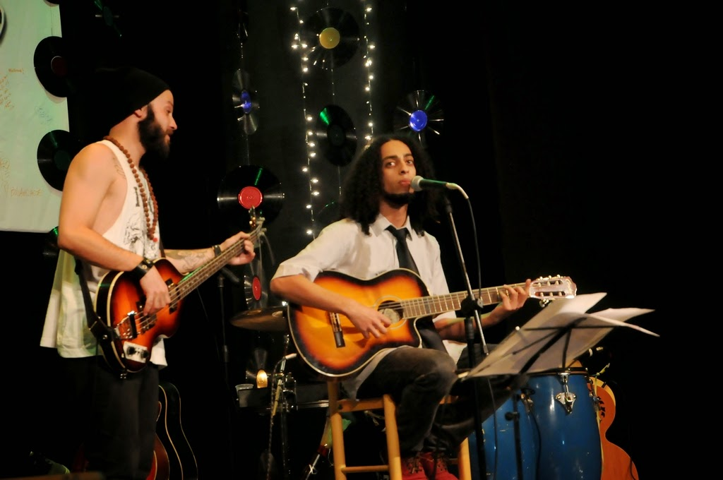 Hugo Sanchez e Spencer, que participou do show em diversas músicas