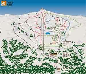 Plano de pistas de Port Ainé