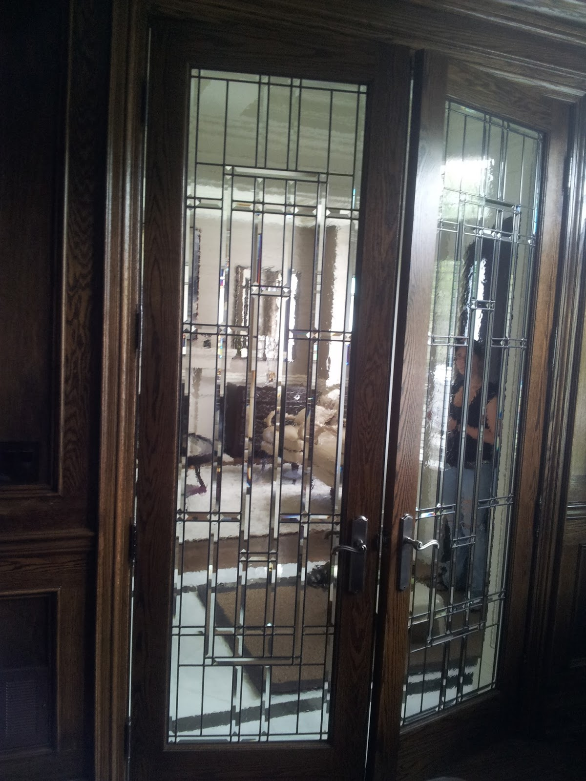 Glassworks studio leaded glass office doors in toronto by for Office doors with glass panels