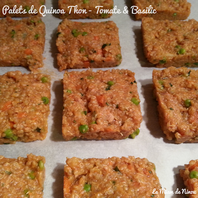 Illustration Palets de Quinoa Thon - Tomates & Basilic