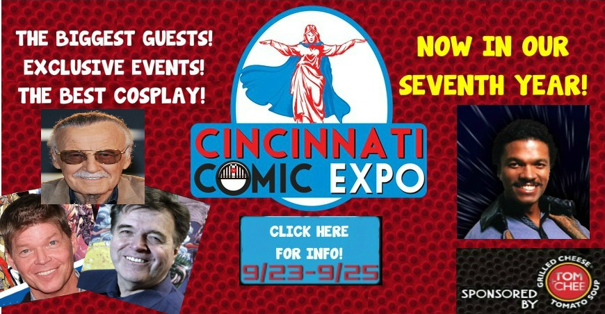 THE 2016 CINCINNATI COMIC EXPO IS ALMOST HERE!