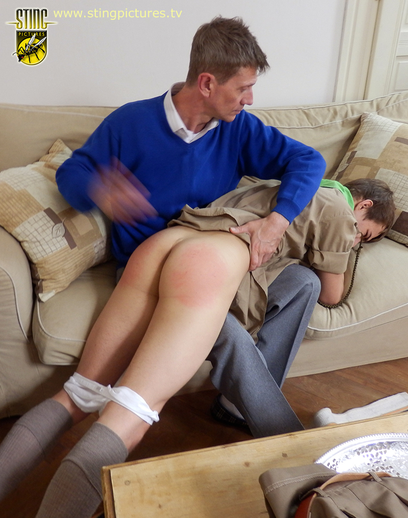 dad Spanking boy by