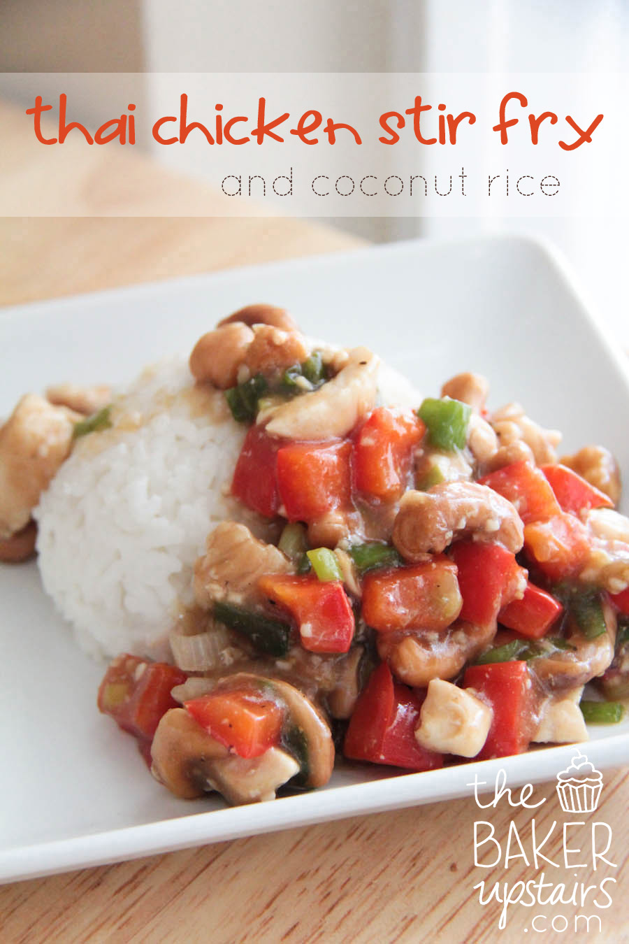 The baker upstairs thai chicken stir fry and coconut rice ccuart Image collections