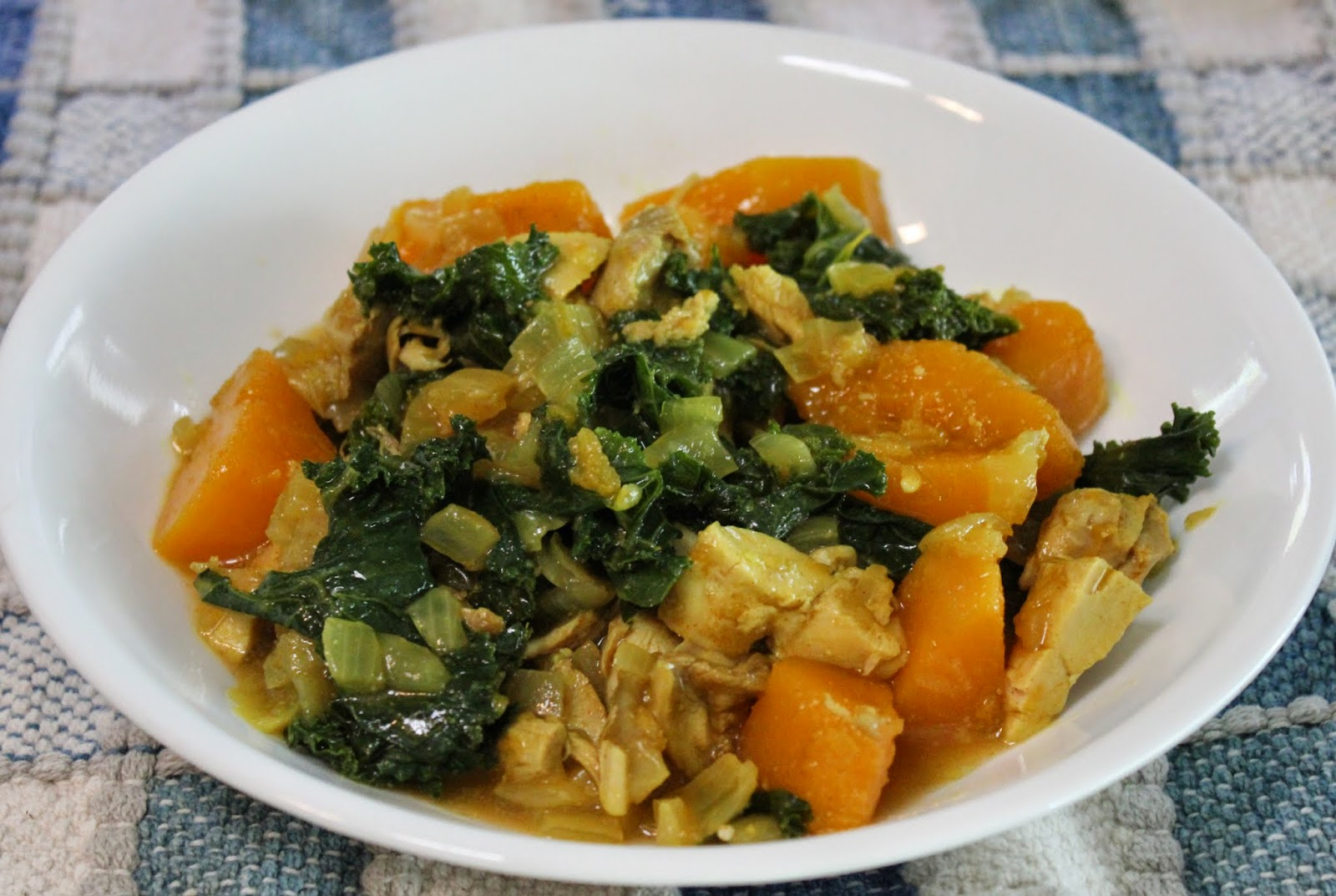 chicken with squash and kale