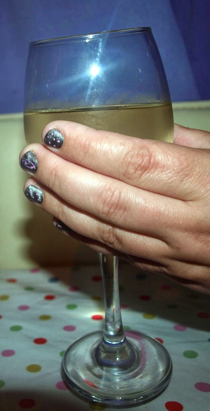 Pink Polka Dot Nail Art for Cybher #cbias - Diary of the Evans-Crittens