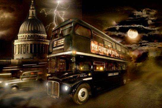 The Ghost Bus Tour, London, Britain.