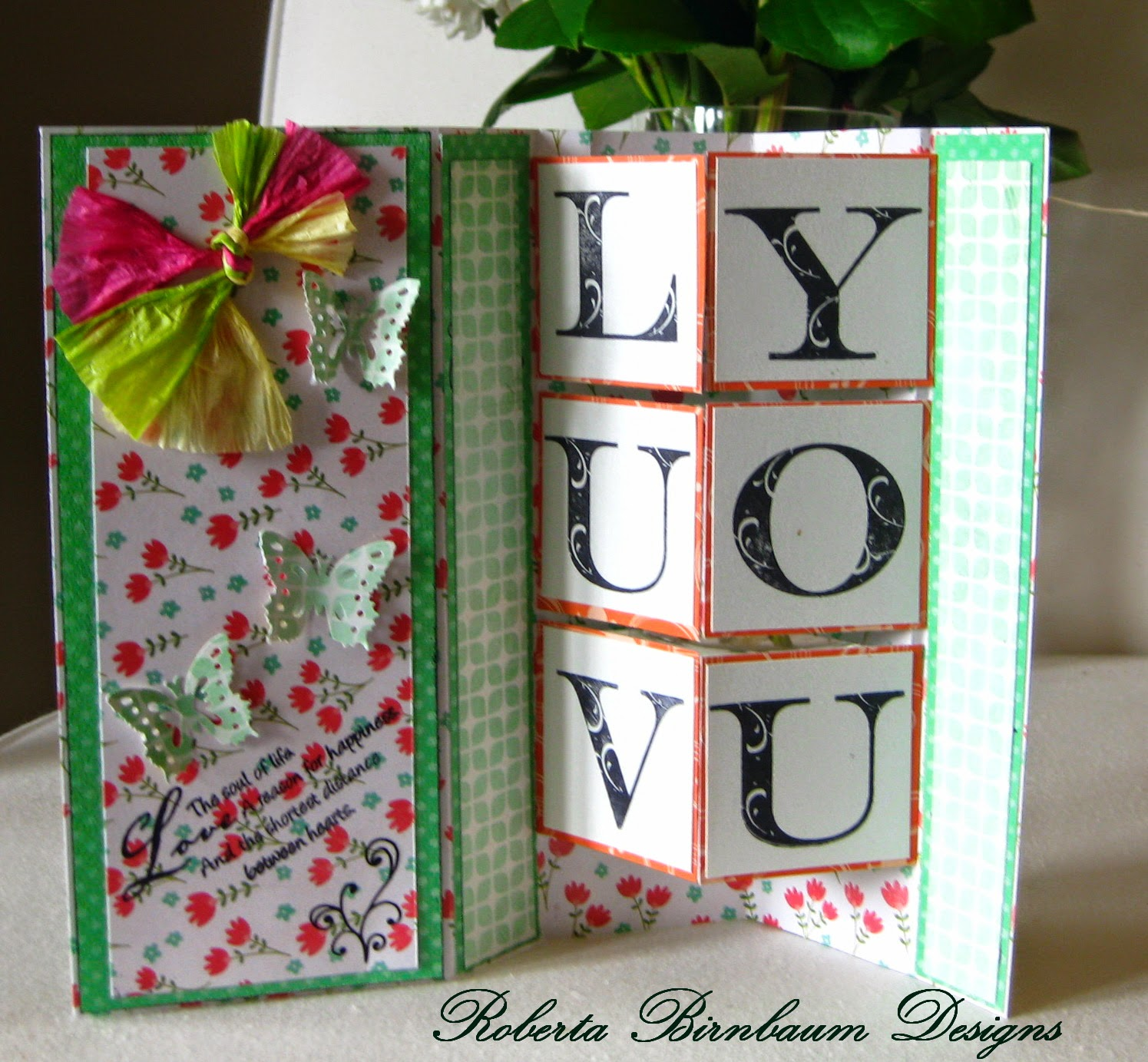 Ann Butler EZ-De's Pop Out Card