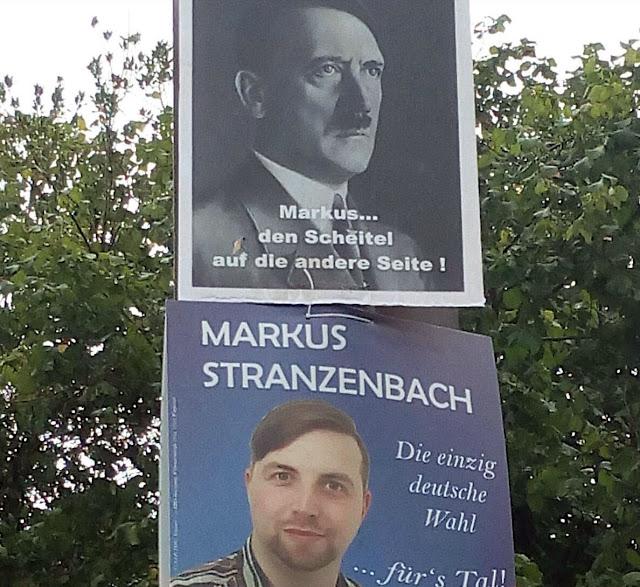 Wenn der rechtslastigen OB-Kandidat Hinweise von oben bekommt | Wuppertaler Wahlplakatbusting Atomlabor Blog