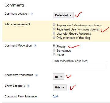 setting komentar blog