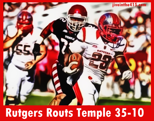Rutgers Jawan Jamison ran for 114 yards in Rutgers win over Temple 35-10