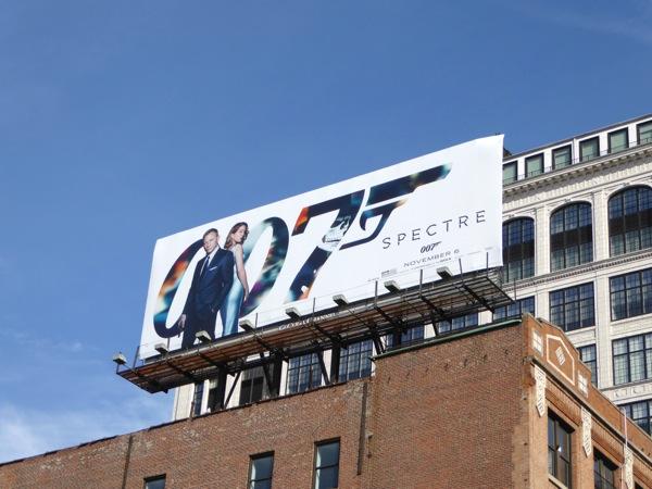 007 Spectre movie billboard NYC