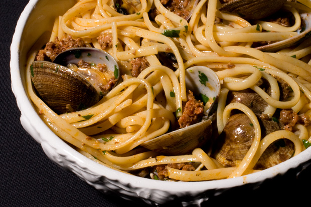 My Favorite Things: Linguine with Clams and Chorizo