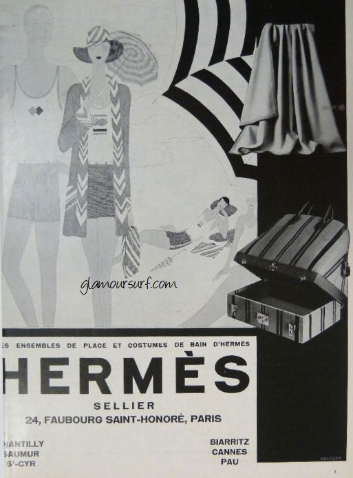 Glamoursplash Early Vintage Hermes Swimwear Advertisements