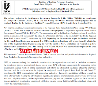 IBPS RRB CWE IV RECRUITMENT 2015