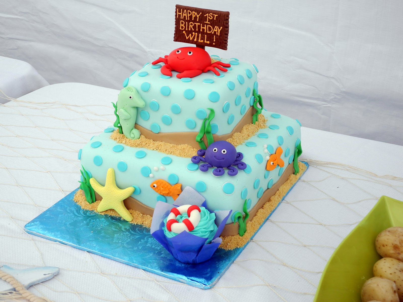 Debbys Cakes Under The Sea I Made This Cake For My Sons 1st Birthday