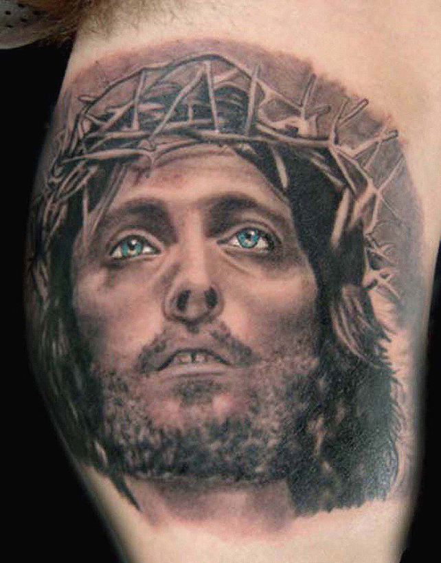 Pictures of jesus tattoo sleeves 6x6