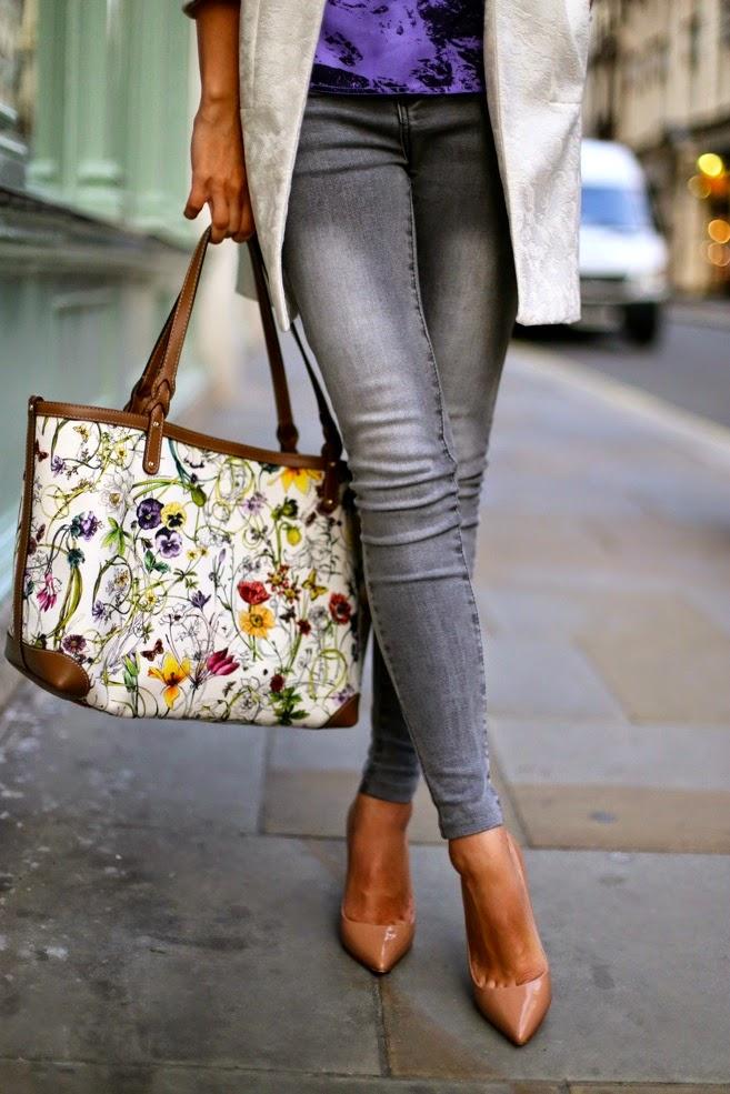 вместительная сумка на осень, сумка с цветочным принтом, пигаль кристиан лабутэн