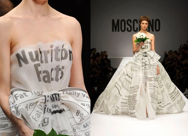 Moschino 2014 AW White Candy Package Gown