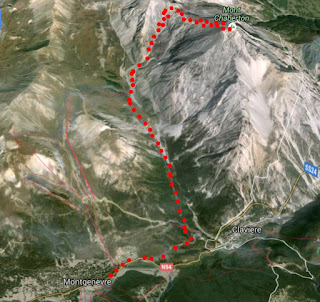 Google Map image of trail