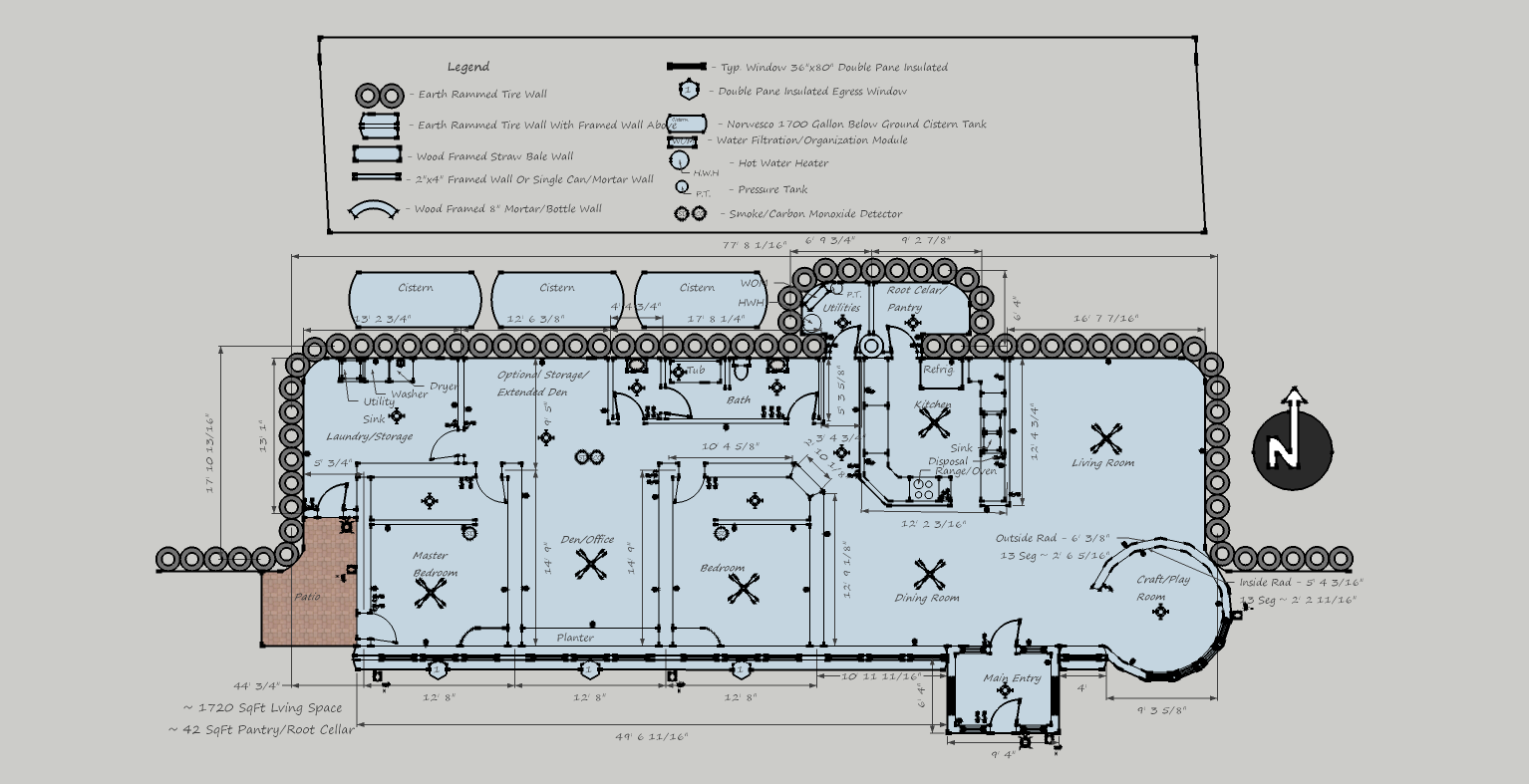 Our Secondhand Home  Floor Plan    Take  New and improved Earthship design
