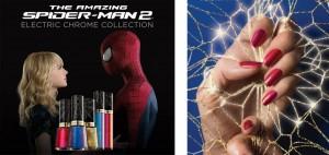 Cores dos esmaltes do filmes Espetacular Homem-Aranha 2: Ameaça Electro